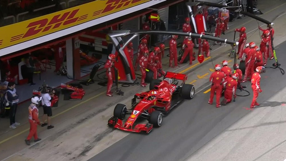 Parada Vettel España F1 2018 Cagada