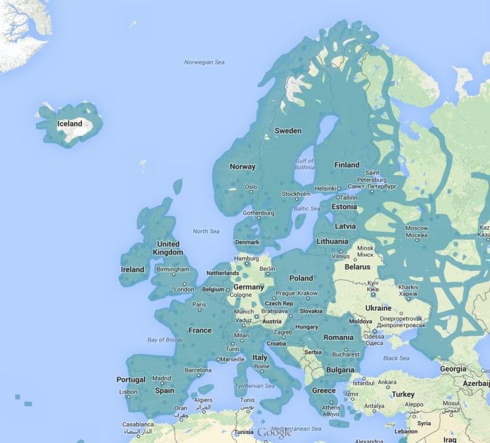 Los sitios de los que Google Street View tiene imágenes