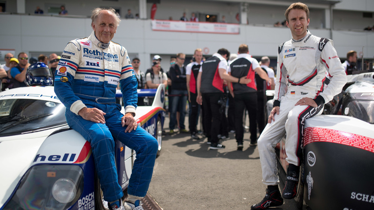 Stuck y Timo con los Porsche 919 Hybrid y 956 C en Nürburgring