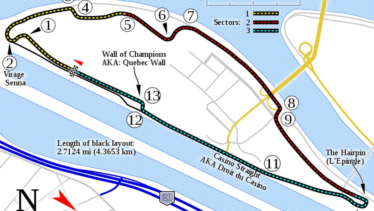 Así es el Circuito Gilles Villeneuve