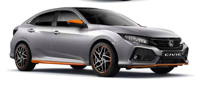 Honda Civic con pack Orange Line