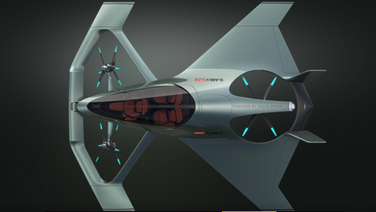 Cenital Aston Martin Volante Mision, el avión eléctrico y urbano