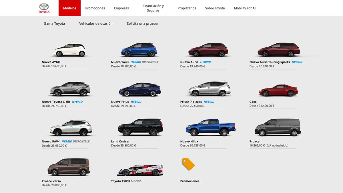Configurador de Toyota
