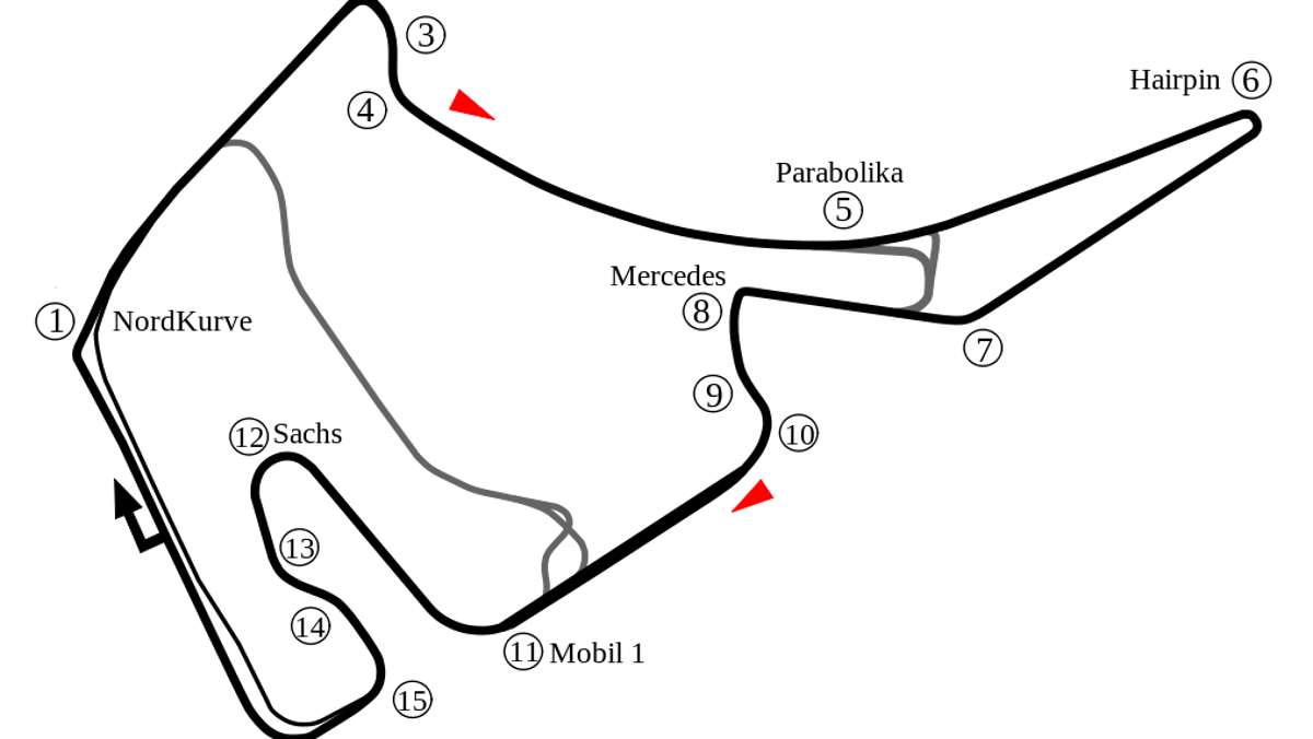 Datos más importantes del GP Alemania F1 2018: Hockenheimring