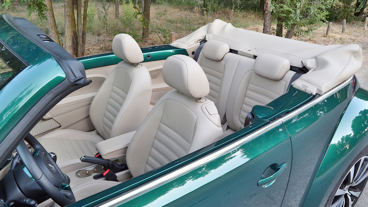 Prueba Volkswagen Beetle Cabrio (habitáculo)