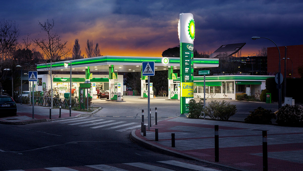 Estación de Servicio BP con carburantes Ultimate con tecnología ACTIVE