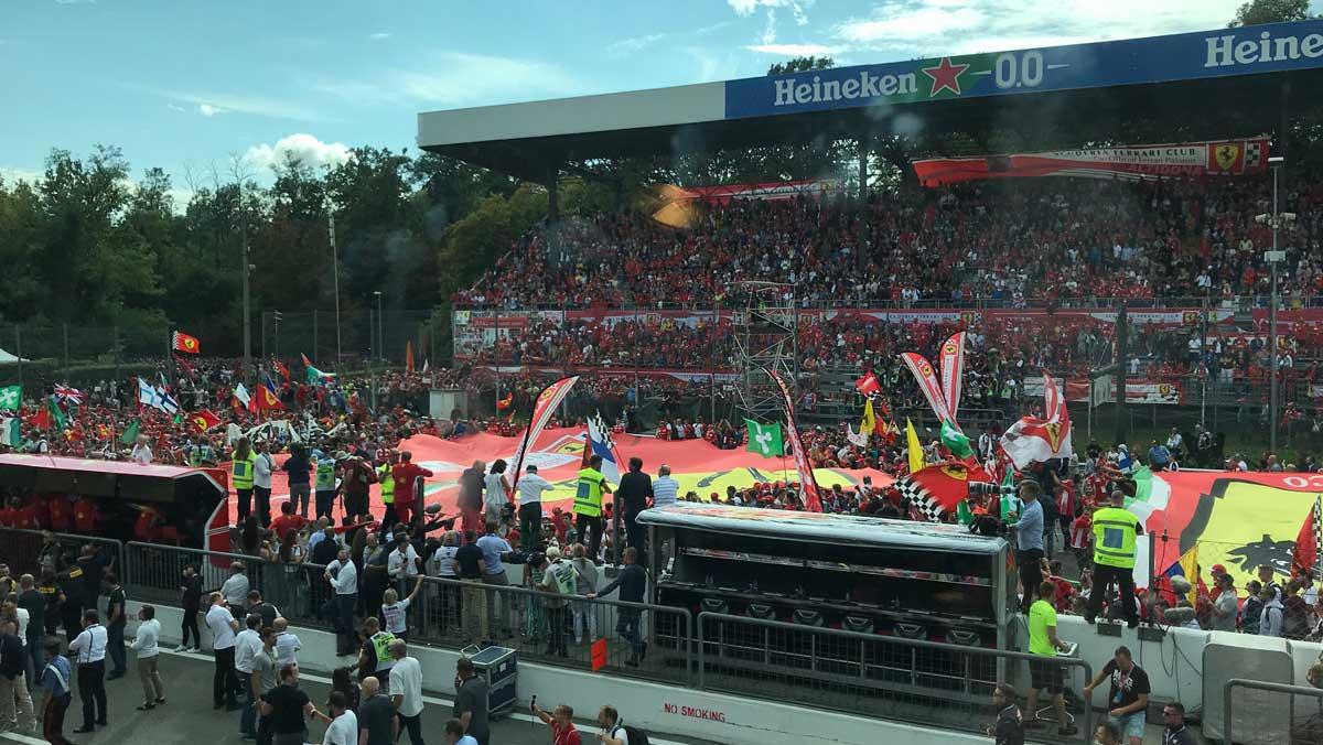 Podio Monza Ferrari