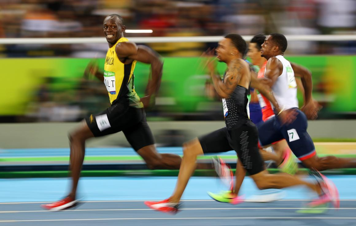 This photo of Usain Bolt smiling as he raced ahead to win the Men's 100-Meter Semifinals at the 2016 Rio Olympics became one of Reuters' most-liked Instagram photos of the year.