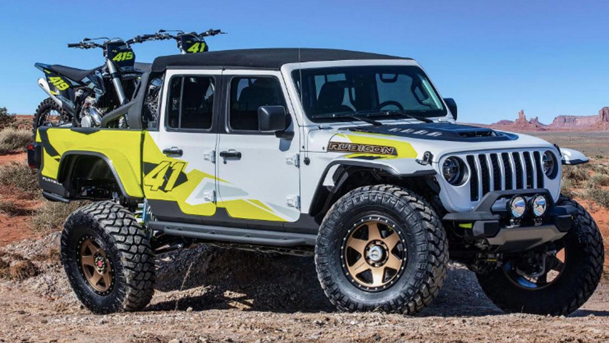 Concept Jeep Flatbill, tres cuartos delantero