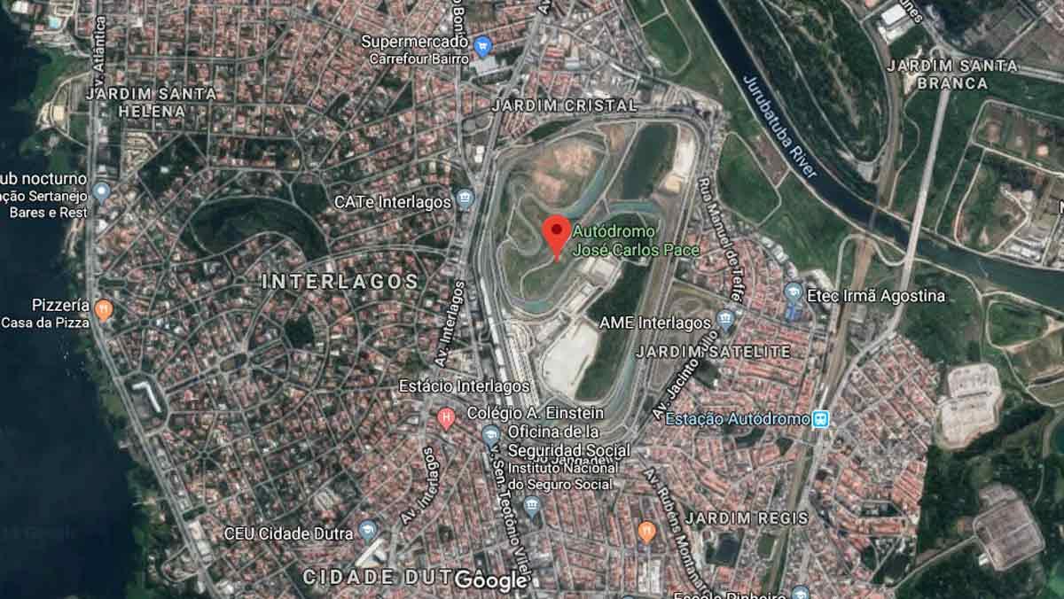 Mapa circuito de Interlagos