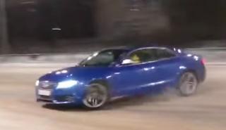 Un Audi S5, mucha nieve y un flipado de las gymkhanas...