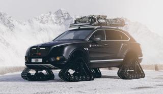 Bentley Bentayga con orugas suv tanque todoterreno
