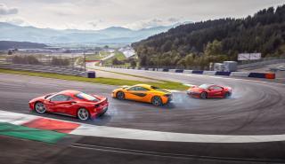 Prueba Ferrari 488 GTB vs McLaren 570S y Honda NSX