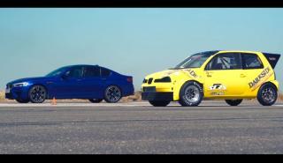 BMW M5 vs Seat Arosa diésel