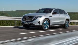 nuevo Mercedes EQC en movimiento