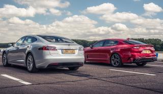 Kia GT contra Tesla Model S