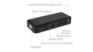Batería portátil para móvil que arranca coche