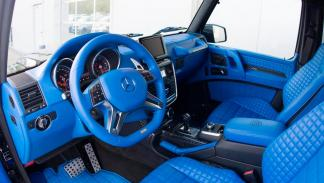 Brabus G 500 4x4 interior azul tapicería cuero preparacion