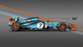 Los diseños de los F1 del futuro - Gulf
