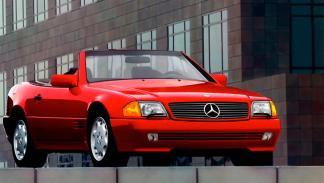 Mercedes SL 500 rojo