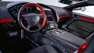 Maybach Exelero interior lujo cuero rojo negro