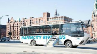 Autobús anfibio Hamburgo