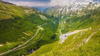 Furka Pass, Suiza mejores carreteras espectaculares puerto montaña