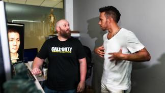 Lewis Hamilton en Call of Duty