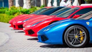 Ferrari Passione Rossa Abu Dhabi Yas Marina evento Giancarlo Fisichella