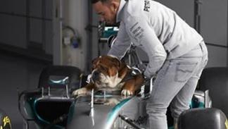 Roscoe le instruye a Hamilton en el correcto manejo del sistema de embrague del FW07