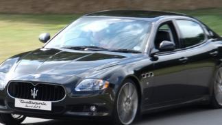 Massa al volante de un Maserati Quattroporte