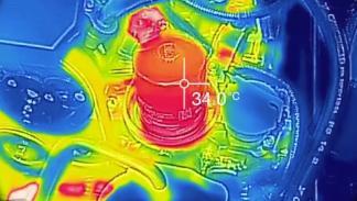 Así coge temperatura un motor en invierno