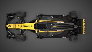 Imagen cenital del Renault F1 RS17