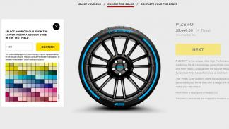 Configurador de neumáticos Pirelli