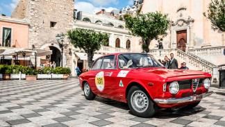 Alfa Romeo Giulia Sprint GTA clásico deportivo Targa Florio
