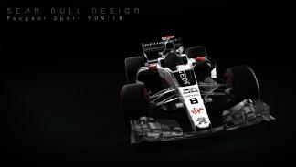 Peugeot de Fórmula 1 sean bull diseño render