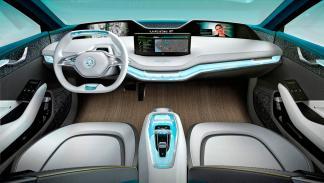 Skoda Vision E interior suv eléctrico