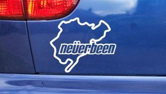Los 9 mejores regalos para los locos de Nürburgring - Pegatina Neverbeen