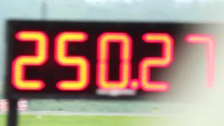 Un Huracán pulverizando el récord mundial de la media milla