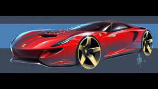 Render Ferrari F40 moderno (III)