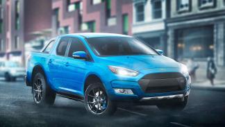 Renders de coches de lujo convertidos en pick-ups: Ford Fiesta RS
