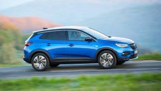 prueba del Opel Grandland X: lateral en movimiento