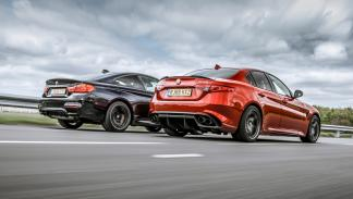 Alfa Romeo Giulia QV vs BMW M4 M Competition (zaga)