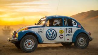 Plano lateral del VW Beeetle de la Baja 1.000