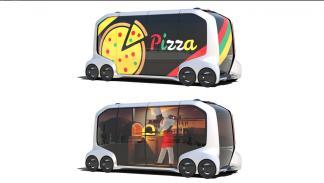 Coche autónomo de Toyota que reparte pizzas
