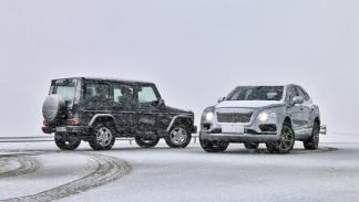 Mercedes Clse G vs Bentley Bentayga (nieve)