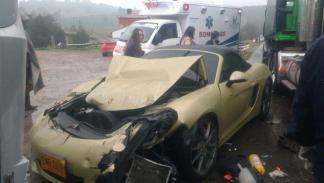 accidente McLaren 650S Mercedes-AMG GT S Porsche Boxster