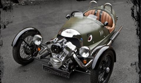 Morgan 3 Wheeler Ginebra frontal