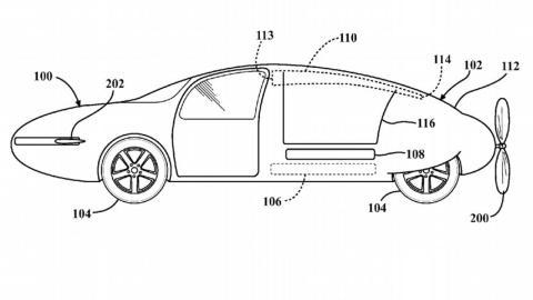 Patente coche volador Toyota