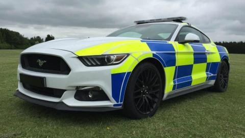 Ford Mustang Policía de Reino Unido